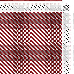 Hand Weaving Draft: Page 182, Figure 15, Textile Design and Color, William Watson, Longmans, Green & Co., 6S, 6T - Handweaving.net Hand Weaving and Draft Archive