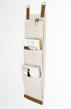 DIY Canvas Wall Pockets