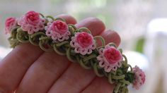 Ruffles and Roses Bracelet Tutorial by Yarn Journey. (Make Layered Ruffle Bracelet and add charms.)