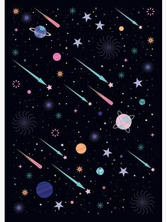 """Constellations Discover Galactic Poster by Carly Watts """"Galactic"""" Poster by CarlyWatts Cartoon Wallpaper, Pastel Wallpaper, Cute Wallpaper Backgrounds, Pretty Wallpapers, Aesthetic Iphone Wallpaper, Screen Wallpaper, Aesthetic Wallpapers, Phone Backgrounds, Outer Space Wallpaper"""