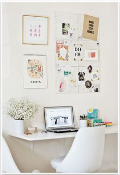 Bedroom desk space idea