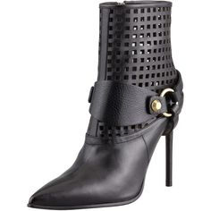 Reed Krakoff Harness Leather Ankle Boot, Black