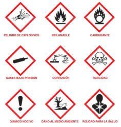 Para el transporte se cuenta con otros pictogramas para señalar el grado de peligrosidad de aquello que es transportado.