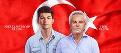 """Ne Mutlu Türk'üm Diyene! Kahraman Çerkes şehitler Erol Olçok ile Abdullah Tayyip Olçok, baba ve oğul, father and son, martyrs, RIP, heroes, Turkish flag, Circassian family, Circassians (European ethnic group), Circassian diaspora in Turkey, Çerkez / Çerkezler değil Çerkesler, """"Bu Dünyadan Gidişimiz Memleket Sevdasından..."""""""