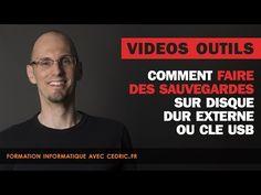 Comment faire des sauvegardes sur disque dur externe ou clé usb - YouTube
