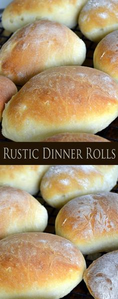 Rustic Dinner Rolls --looks good Bread Bun, Bread Rolls, Bread Machine Rolls, Dinner Rolls Recipe, Quick Dinner Rolls, Homemade Dinner Rolls, No Yeast Dinner Rolls, Sourdough Dinner Rolls, Quick Rolls