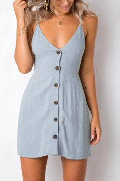 23 Best Cotton Summer Dresses You Should Own in 2019 Summer - Fashion Moda 2019 Short Beach Dresses, Cute Dresses, Cute Outfits, Dresses Dresses, Cotton Summer Dresses, Dresses For Summer, Summer Clothes For Women, Daytime Dresses, Holiday Dresses