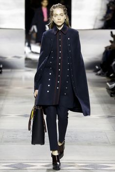 Mulberry navy blue cape coat