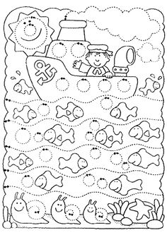 Worksheet Tracing: Sailing in a Circle World. letrimanía 3 - adely l - Álbuns da web do Picasa Tracing Worksheets, Preschool Worksheets, Preschool Activities, Pre Writing, Writing Skills, Early Learning, Kids Learning, Ocean Themes, Motor Activities