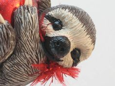 Sloth Ornament by WhimzyGrimzy on Etsy