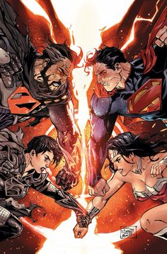 Superman & Wonder Woman vs Zod & Faora - by Tony Daniel | #comics #dc