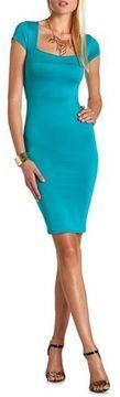 Scuba Body-Con Midi Dress