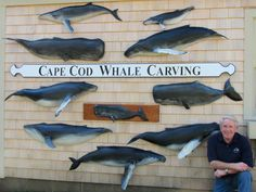 Cape Cod Whale Carving home page of Whale Carver Rich Benson