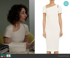 Delia's white dress with cutout on Girlfriends Guide to Divorce.  Outfit Details: https://wornontv.net/78983/ #GG2D
