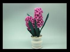 Kwiaty z bibuły- hiacynt  Crepe paper flowers -  hyacinth DIY