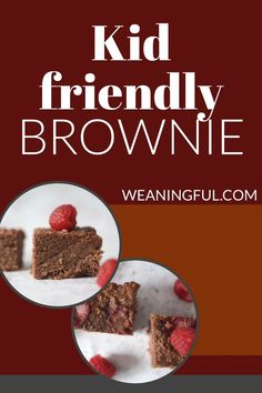 These kid friendly brownies are healthy, easy to make and nutritious too! You can make them with all kinds of beans and even chickpeas. They're soft and great for babies just starting solids at 6 months as they have no refined sugar. Baby Led Weaning First Foods, Baby First Foods, Baby Finger Foods, Baby Weaning, Healthy Baby Food, Healthy Meals For Kids, Easy Healthy Recipes, Baby Food Recipes, Fun Snacks For Kids