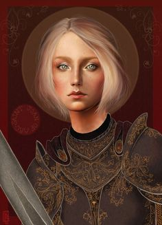 """I am not afraid. I was born to do this."" - Joan of Arc (St. Joan of Arc by *Reine-Haru)"