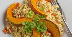Quinoa Salad Recipe and Grilled Pumpkin
