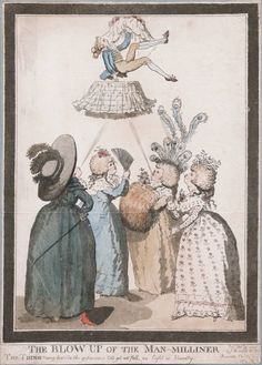 The Blow up of the man milliner, Feb 1787, Lewis Walpole Library Digital Collection