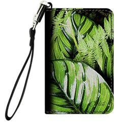 Leaves & Ferns Leather Wrist Clutch $35.00