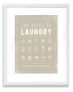 Laundry Room DIY — Cute to print & frame.