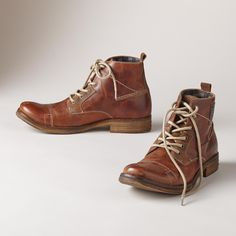 Lisbon Boots: It's all about quality and detail in this pair of leather lace-up boots for men with contrast stitching, plaid lining and rubber soles. Euro whole sizes 40 to 40 (US 41 (US 42 (US 43 (US 44 (US 45 (US 46 (US Fashion Shoes, Mens Fashion, Leather Lace Up Boots, Made Clothing, Men's Shoes, Combat Boots, Man Shop, Lisbon, Clothes For Women
