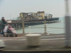 What's left of our pier. Hastings Pier, Pirate Day, New York Skyline, Sea, Summer, Travel, Summer Time, Viajes, The Ocean