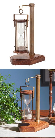 Whether used to track time or just for show, our Bushwick Hourglass brings an old-world vibe to even the most modern of workspaces. When the sand runs out, slide the hoop hanger down the length of the ... Find the Bushwick Hourglass, as seen in the The Industrial Equation Collection at http://dotandbo.com/collections/the-industrial-equation?utm_source=pinterest&utm_medium=organic&db_sku=128340