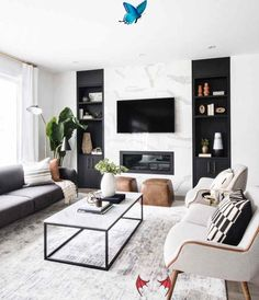 Leclair Decor's Cedarbreeze Project is both modern and cozy. The Ottawa based in... -  Leclair Decor's Cedarbreeze Project is both modern and cozy. The Ottawa based interior design fir - #based #cedarbreeze #Cozy #decor #decors #leclair #LivingRoomDesigns #modern #ModernHouseDesign #ModernInteriorDesign #ottawa #project<br> Living Room Scandinavian, Scandinavian Interior, Online Interior Design Services, Lounge Decor, Minimalist Interior, Minimalist Décor, Interior Modern, Room Interior, Luxury Living