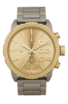 DIESEL® Round Chronograph Bracelet Watch | Nordstrom