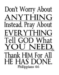 Digital File Word Art Dont Worry Pray Philippians 4 6 Instant Download Printable Scripture Print Poster Black White