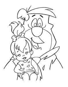 wilma flintstone coloring pages bing images