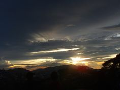 Sunset over Baguio.