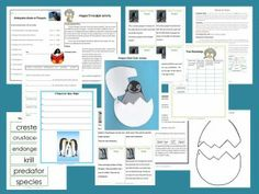 Let's Read and Write About Penguins contains trivia hunts, creative and informational writing activities, vocabulary words, a craftivity and notes for the teacher explaining how to use the materials.