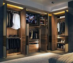 Top 100 Best Closet Designs For Men - Part Two Master Bedroom Closet, Bedroom Wardrobe, Wardrobe Closet, Built In Wardrobe, Wooden Wardrobe, Bedroom Closets, Bedrooms, Closet Space, Master Suite