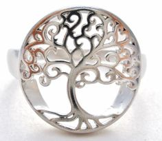 Sterling-Silver-Tree-of-Life-New-Size-7-Fashion-925-Jewelry-Hallmarked