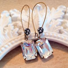 Crystal Art Deco Earrings Faceted Crystal, Crystal Earrings, Drop Earrings, Art Deco Earrings, Art Deco Jewelry, Wedding Day Jewelry, Gifts For Your Sister, Victorian Jewelry, Art Deco Fashion
