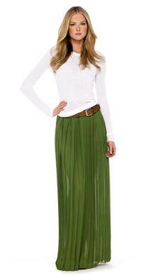 Michael Kors Maxi Skirt - love a long skirt these days