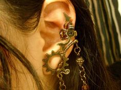 Ear cuffs need a revival: fantasy elf ears and rainbow feathers | Offbeat Bride
