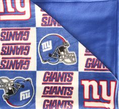 NY Giants Fleece Blanket, Double Sided Blanket, Large Fleece Blanket, Adult S. Blankets For Sale, Large Blankets, Fleece Blankets, Easy Stitch, V Stitch, Wire Fox Terrier, Blue Back, Half Double Crochet, Fleece Fabric
