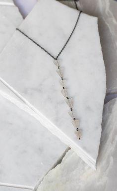 Arrow Tourmaline Drop Necklace   NYLON SHOP