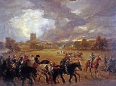 Margaret of Anjou Taken Prisoner After the Battle of Tewkesbury (1875) - Sir John Gilbert (1817-1897) was an English painter and illustrator. He was knighted in 1872 after exhibiting more than 400 paintings.