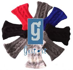 Gnit-It Knit Cabled Headwarmer Knits, Gloves, Knitting, Winter, Fashion, Winter Time, Moda, Tricot, Fashion Styles