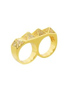 Isis twosome ring by Erica Anenberg.