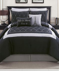 Take a look at this Black Versailles Comforter Set on zulily today!