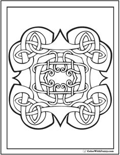 Fuzzy's Celtic Knot Designs: Ornate Celtic Knot Coloring Page