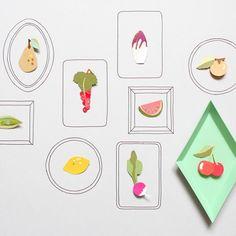 Des broches fruits et légumes / Fruits and vegetables broochs