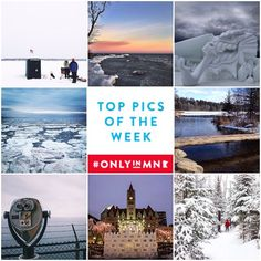 The winter landscape across the state is sparkling and we want to showcase the beauty of #Minnesota! Share your winter scenery photos with us using #OnlyinMN. Clockwise from top left: @karakurth @chrisplys @jockellgiron @benpedersen1 @gretcholi @wanderthemap @caseyhurleyphoto @everyrivertothe_sea