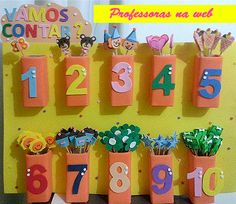 Professoras na web: Painéis de EVA para ensinar os números