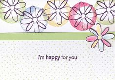 I'm Happy For You! by kahoogstad - Cards and Paper Crafts at Splitcoaststampers Im Happy For You, I'm Happy, Diy Cards, Rock N Roll, Paper Crafts, Layers, Crafting, Layering, Im Happy